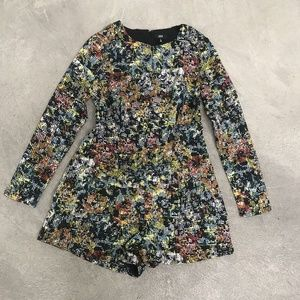 (NWT) Lucca | Multicolored Long Sleeve Romper!